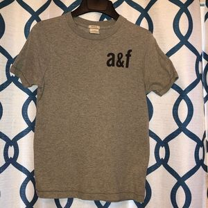 Abercrombie & Fitch EUC Boys Gray Muscle Tee Sz M